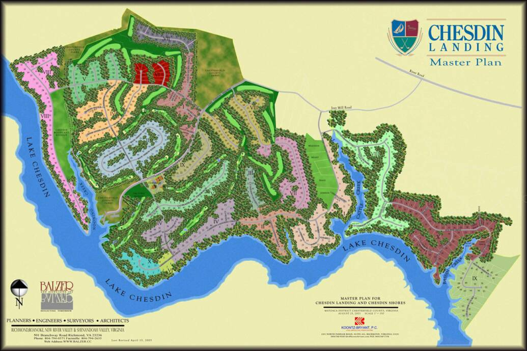 Chesdin Landing lot map