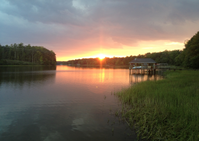 Sunset at Chesdin Landing in Chesterfield VA