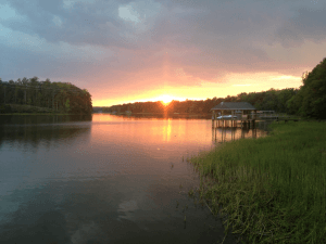 sunset 300x225 - Waterfront Homes + Golf Course Community At Chesdin Landing