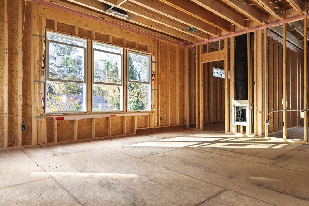 interior frame of a new house under construction in North Carolina - 5 Advantages of Building Your House